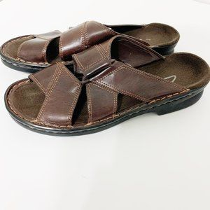 Clarks Leather Hook Strap Sandal - EUC